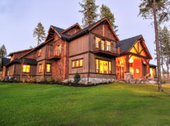 Stunning rear view of Multnomah showing off cedar siding