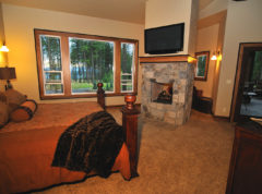 Master suite with double sided fireplace